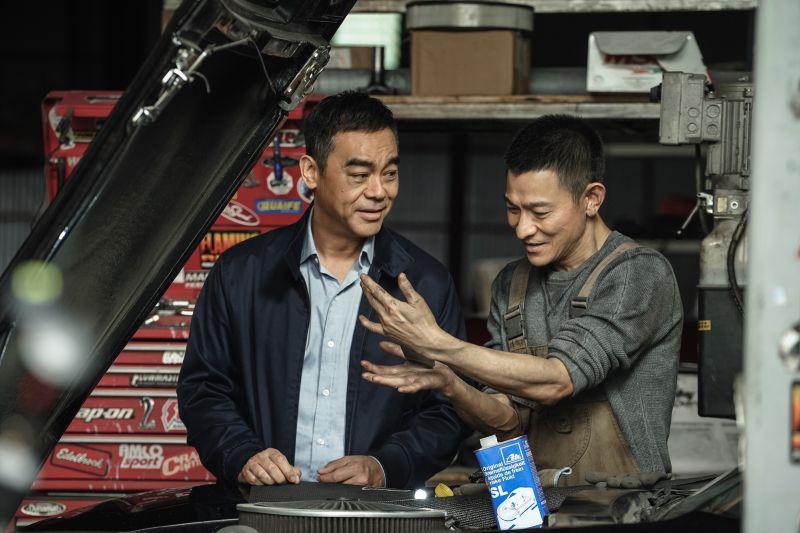 ▲劉青雲(左)和劉德華默契超好。(圖/華映娛樂)