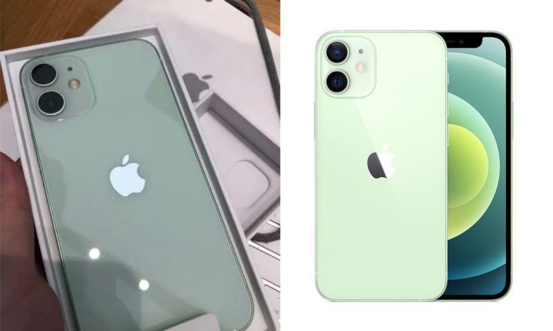 ▲一名女網友表示自己拿到了「iPhone12mini綠色」實體機被美哭,她也揭開「5大優點」,貼文一出,引起熱議。(左圖,翻攝自《Dcard》/右圖,翻攝自蘋果官網)