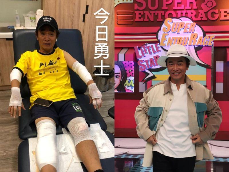 ▲吳宗憲錄影摔車受傷。(圖/翻攝KID