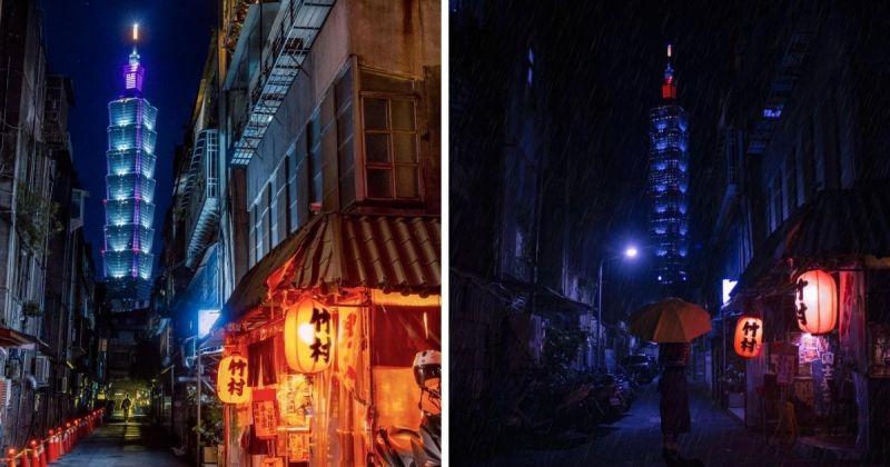 台北101是不少觀光客必拍台北景點之一,從不同的角度、時間取景能帶出不同的韻味。(圖| Reddit網友@ashish.c6/u/BenBrommell)