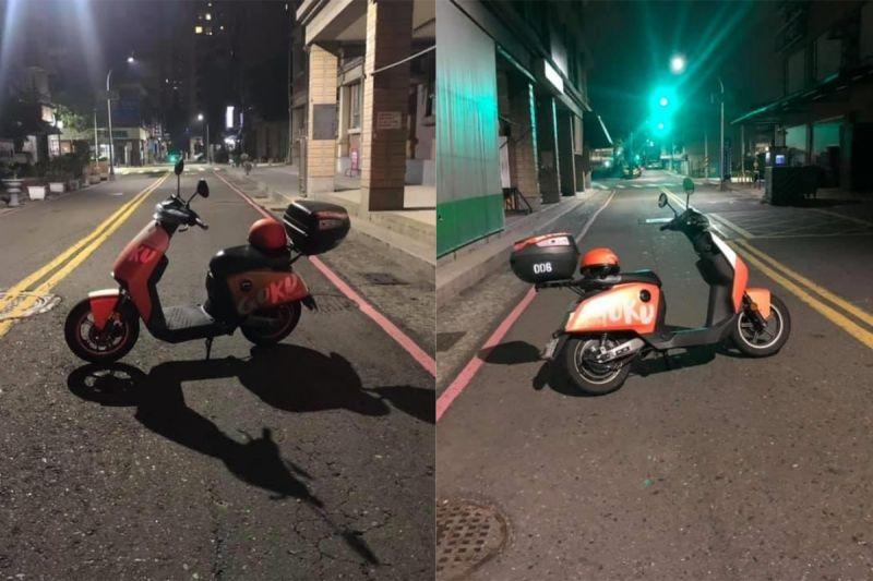 ▲網友看到一台共享機車橫跨在馬路中間,讓她相當傻眼。(圖/翻攝自《爆怨2公社》 )