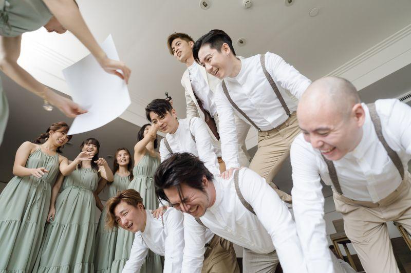 ▲潘嘉麗、游政豪於今(20)日舉辦婚宴。(圖/游手好弦娛樂提供)