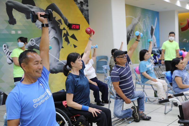 ▲臺北市政府體育局去年首創「身心障礙者運動巡迴指導團」,引發廣大迴響,廣受好評,今年推出更完善的課程。(圖/官方提供)