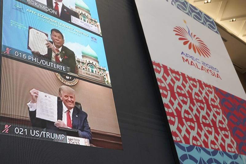 ▲亞太經濟合作會議領袖峰會( APEC )今年由馬來西亞主辦,共 21 個環太平洋國家參與,出席者包含美國總統川普。(圖/美聯社/達志影像)