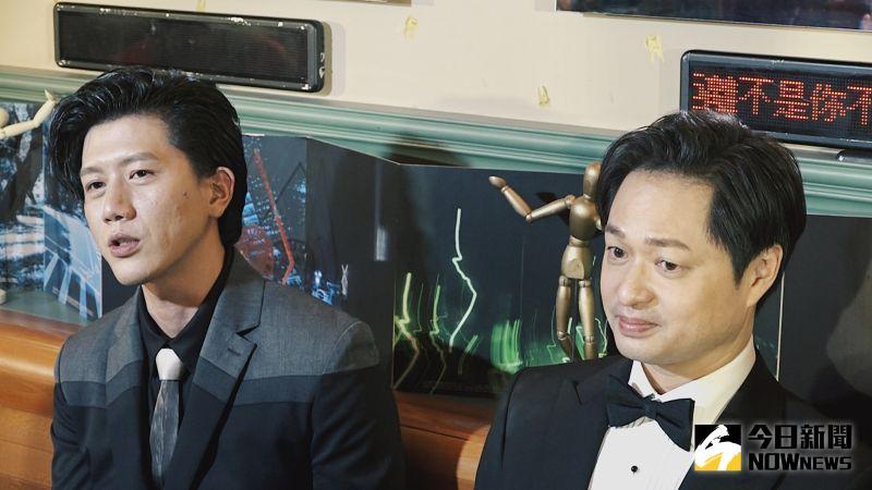 ▲慶功宴上,https://ed.747.tw莫子儀(左)透露結婚會比當導演快。(圖/記者陳思誼攝)