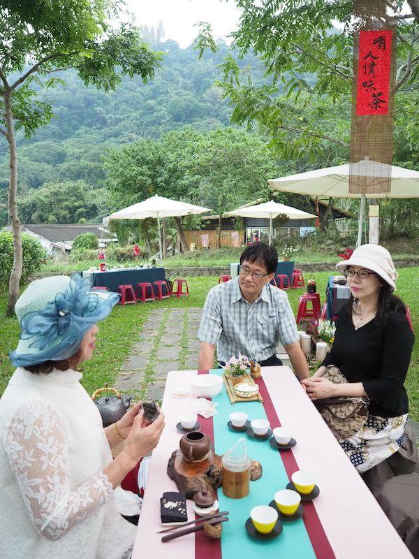 ▲阿管處在會場擺設茶席供選手們品茗。(圖/阿管處提供)