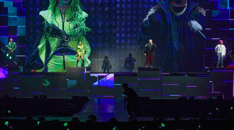 ▲蔡依林合體頑童MJ116演唱《辣台妹》、《幹大事》、《PLAY》3首歌組成的組曲。(圖/凌時差提供)
