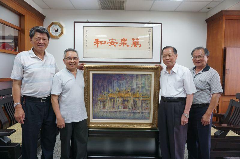 萬和宮推動文化藝術獲回響 4名家贈墨寶充實館藏