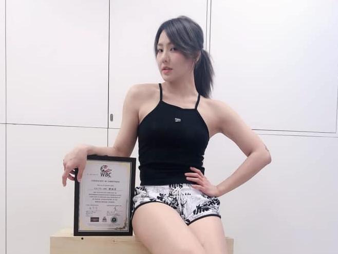 ▲劉雨柔拳擊國際證照到手。(圖/劉雨柔提供)