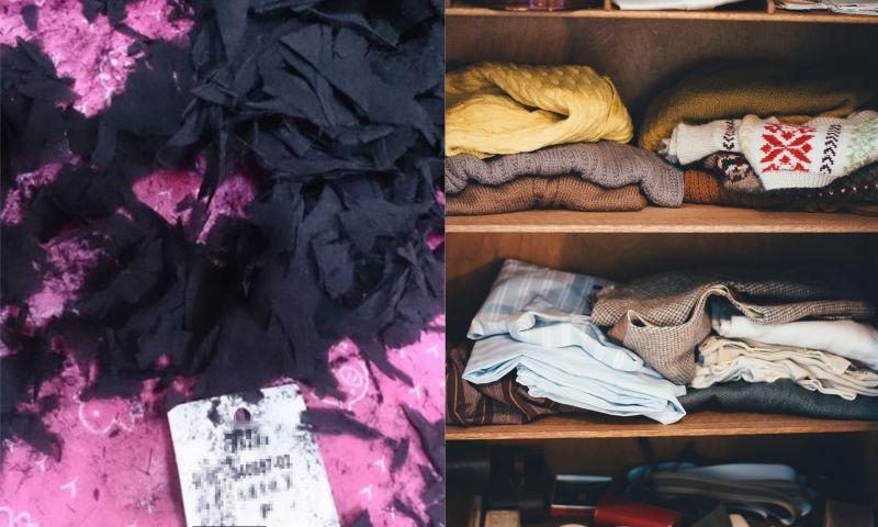 ▲女網友多年前網購衣服,豈料近日一打開竟然都「化成灰燼」,讓大批網友紛紛看傻。(左圖,翻攝自PTT/右示意圖,取自 pixabay )