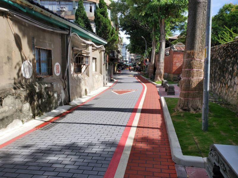 ▲林家花園文昌街。(圖/新北市工務局提供)