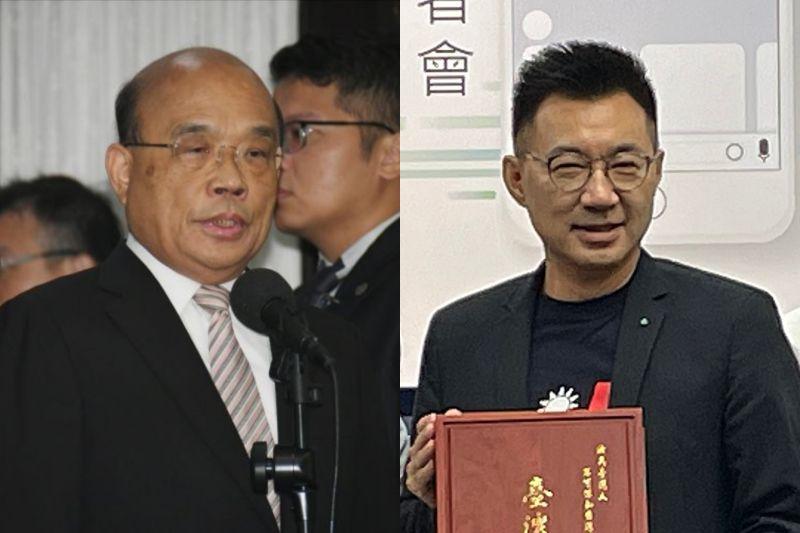 針對行政院長蘇貞昌表示「立法院的詢答就是最好的辯論」,國民黨主席江啟臣24日反酸蘇貞昌「不要那麼急著取代蔡英文總統」。