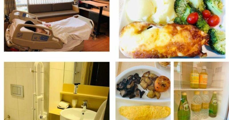 ▲拼圖,醫院的食物非常豐盛(右)、醫院病房內部
