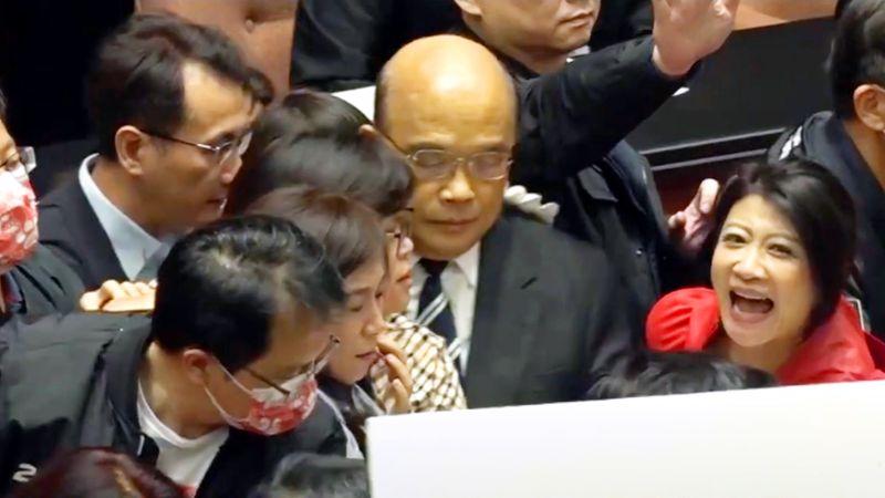蘇貞昌堅持上台報告 國民黨:蘇正面臨「內閣保衛戰」