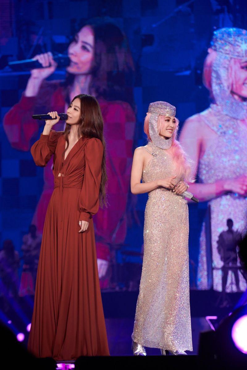 ▲蔡依林(右)邀來田馥甄Hebe擔任演唱會嘉賓。(圖/凌時差提供)