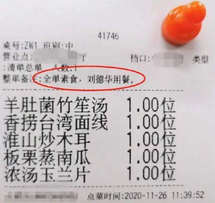 劉德華午餐菜單被外流 網一看全跪