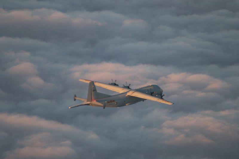 我國空軍建軍百年之日 共機趁夜出動1架次運8反潛機擾台