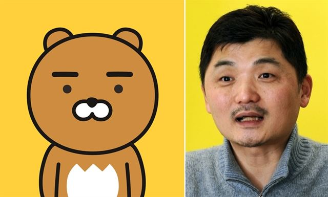 ▲KakaoTalk的吉祥物「Ryan」據說就是根據金範秀所做的創作。(圖/翻攝自韓國Daum)