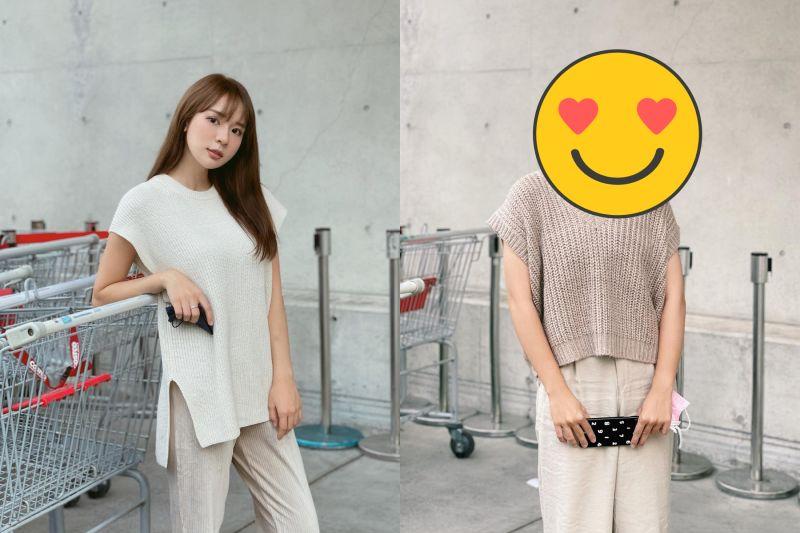 ▲林莎(左)曝親妹長相,超強基因驚豔全網。(圖/林莎臉書)