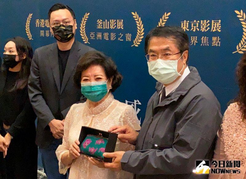 ▲陳淑芳說,台南市長黃偉哲投資,就拍續集。(圖/記者陳聖璋攝,2020.12.02)