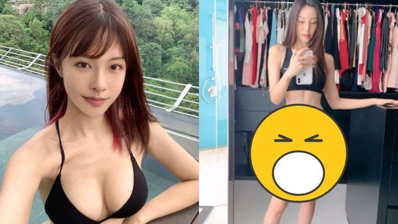 ▲李元玲分享更衣影片,丁字褲搶眼。(圖/李元玲IG)