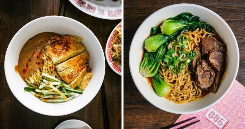 ▲886販賣各種台式美食,圖為特製麻醬涼麵(左)、牛肉麵。(圖|886/Facebook)