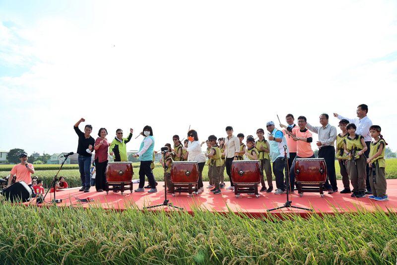 ▲北園國小太鼓隊「鼓鳴盛事」揭開音樂祭序幕。(圖/嘉巿府提供)