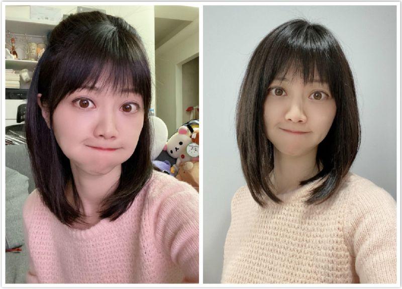 ▲「港湖女神」高嘉瑜在臉書曬出新髮型,讓粉絲看後紛紛大讚「變可愛了」。(合成圖/翻攝自高嘉瑜臉書)