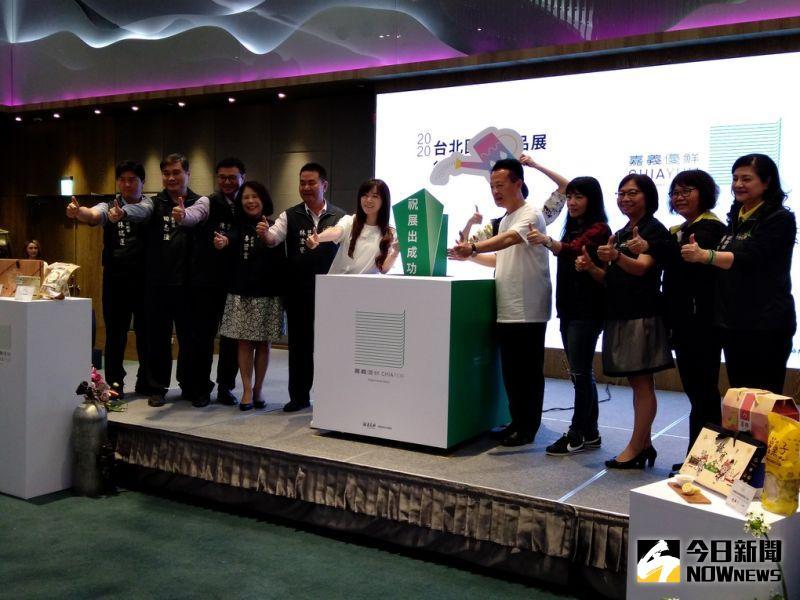 ▲嘉義縣政府今年首次參展台北國際食品展,縣長翁章梁對18