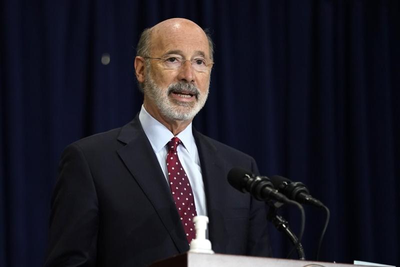 美國賓州州長沃爾 確診新冠肺炎