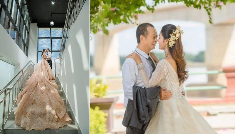 <b>柬埔寨</b>爺孫戀歡慶結婚八週年!曬婚紗照放閃遭酸