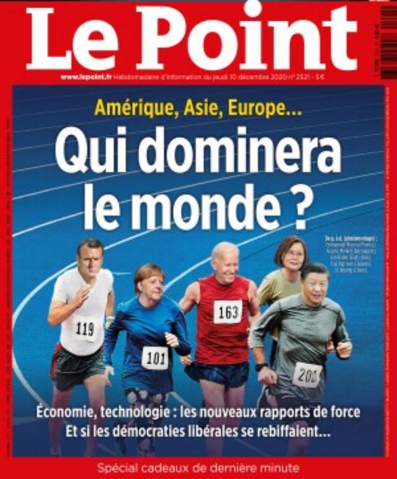 法週刊「誰將主宰世界」 蔡總統與四大國領袖並列
