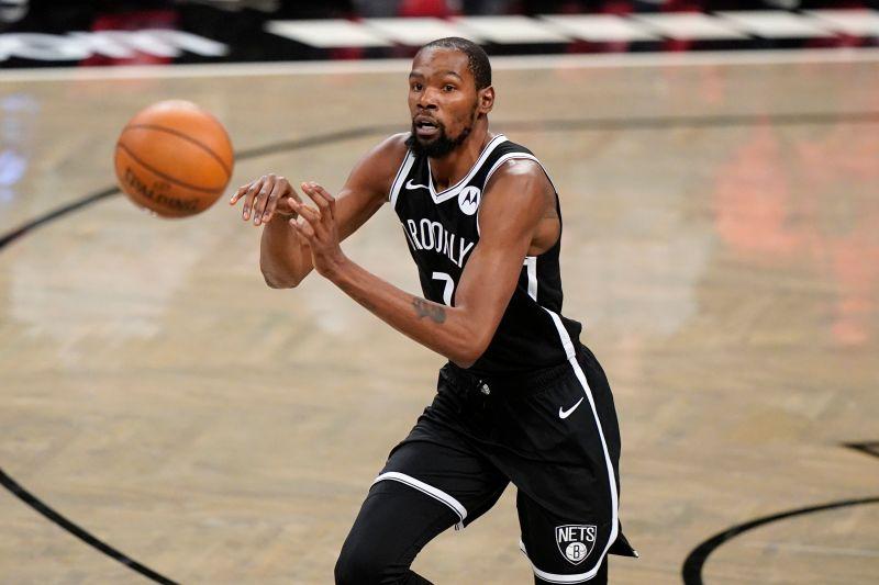 ▲籃網球星Kevin Durant等待552天終於健康復出,首度披上籃網戰袍出賽。(圖/美聯社/達志影像)