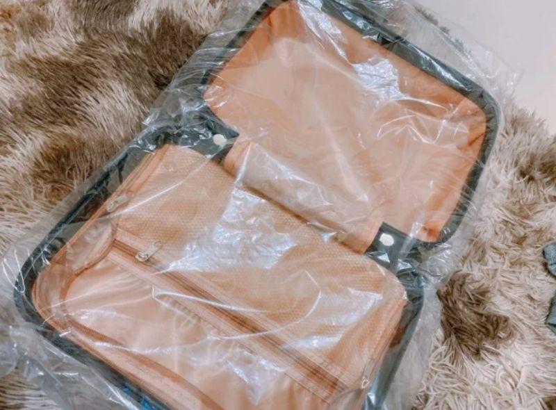 ▲女網友買了一個14吋的手提行李箱,要當交換禮物用。(圖/翻攝自《Dcard》)
