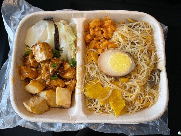 ▲網友分享台灣防疫旅館吃的食物,並表示每餐都非常好吃。(圖/翻攝Dcard)