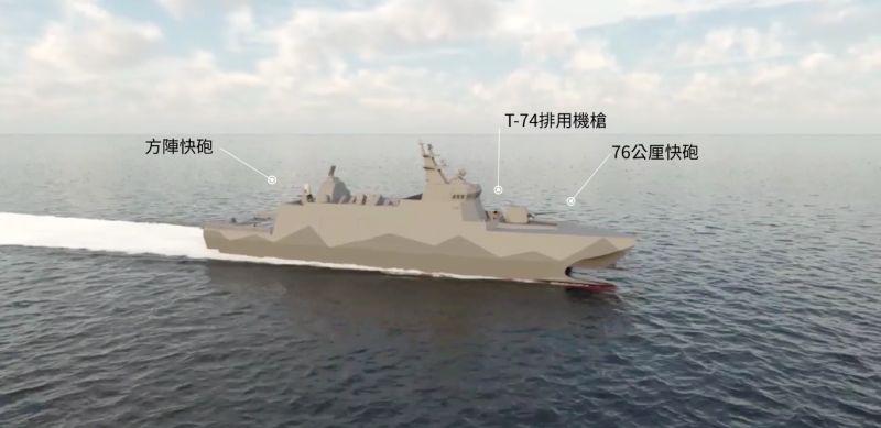▲高效能艦後續艦,首艘塔江艦搭載武器介紹。(圖/龍德造船提供)