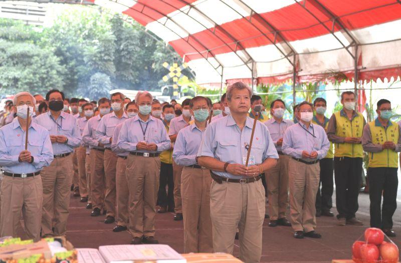▲中鋼公司舉行2號高爐第4爐代開爐祈福儀式。(圖/記者黃守作攝,2020.12.15)