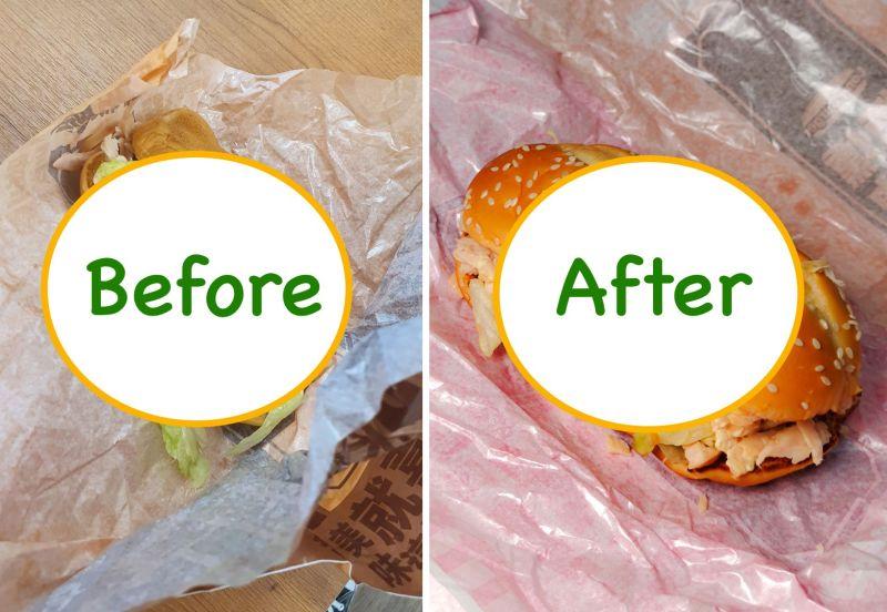 ▲麥當勞長堡換麵包,反讓原本想當暖男的網友,誤踩女友地雷。(圖/翻攝自Dcard)