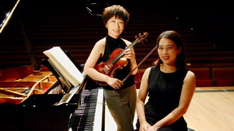 ▲小提琴家張雅晴、鋼琴家王文娟選在貝多芬的冥誕250週年、貝多芬的生日12月16日發表《貝多芬小提琴奏鳴曲全本》。(圖/張雅晴提供)