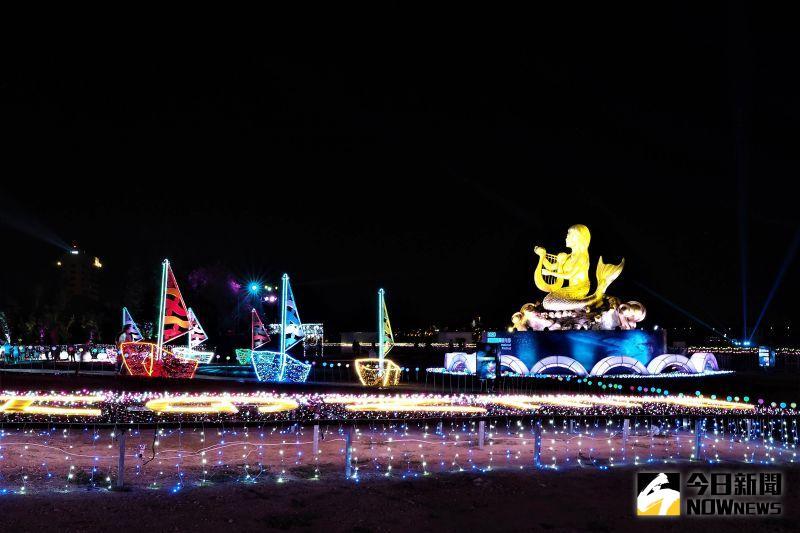 人魚傳說發威 澎湖燈光節主題燈區再獲國際設計大獎