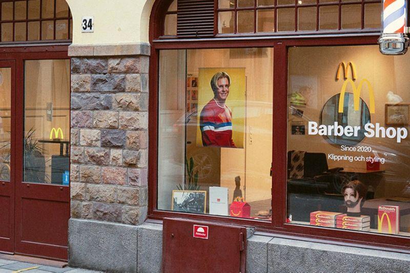 ▲麥當勞在瑞典斯德哥爾摩開設理髮店。(圖/翻攝自瑞典麥當勞官網)