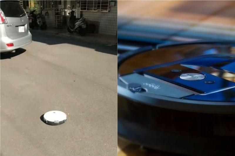 ▲有網友在巷子驚見掃地機器人狂衝, 讓他看了忍不住笑出來。(示意圖/翻攝自《新·路上觀察學院》及《pixabay》 )