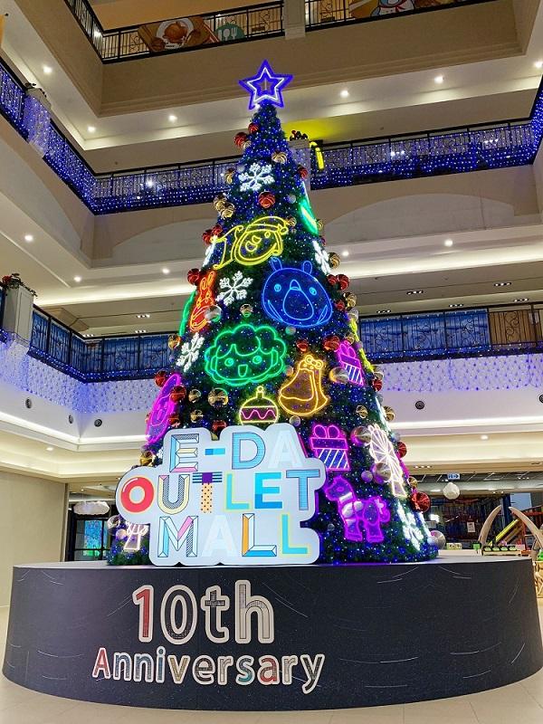 ▲打造全台商場室內最大聖誕樹及網美打卡點。(圖/記者陳美嘉攝)