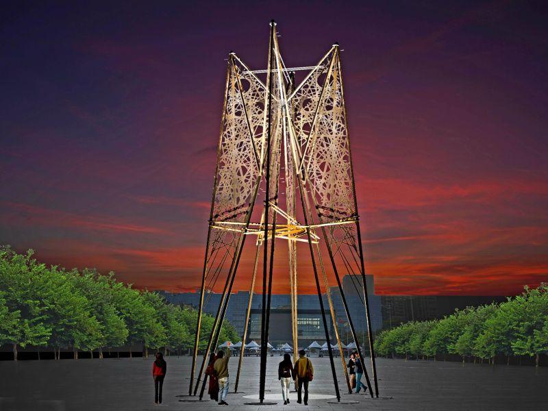 台中好聖誕點燈  12米高「伯利恆之星」點亮希望