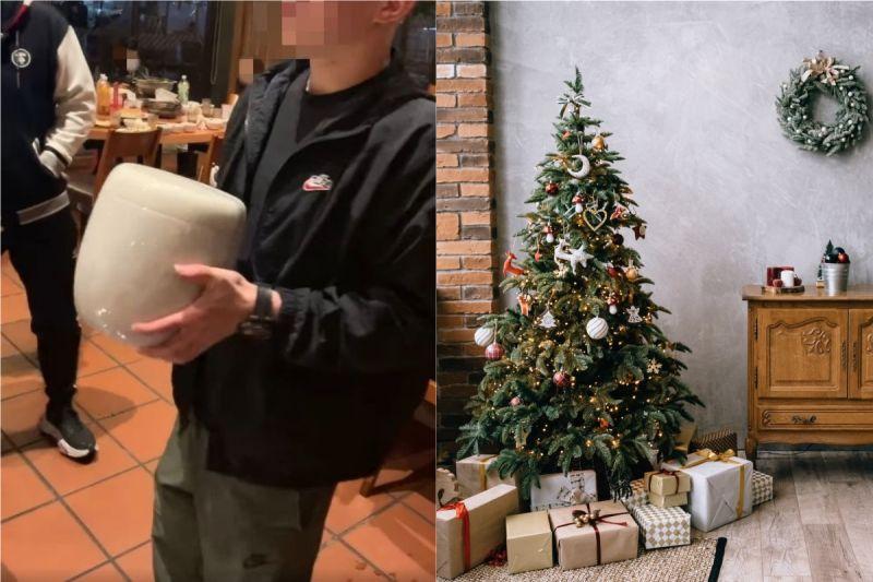 ▲有網友分享,朋友在交換禮物時抽到一個「新家」,讓他驚呆了。(圖/翻攝自《爆廢公社公開版》 )