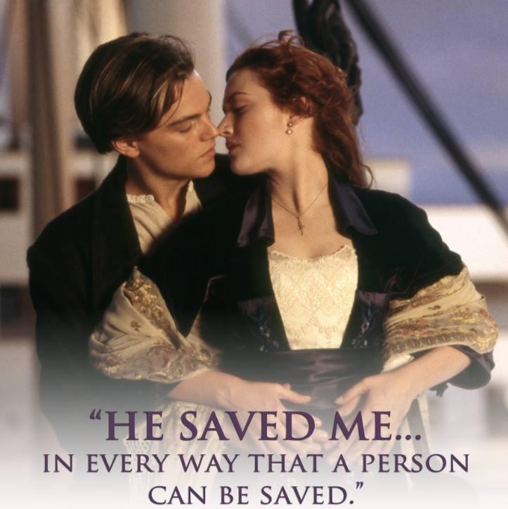 ▲這世界上有一種愛,就叫做蘿絲與傑克。(圖/《鐵達尼號》臉書)