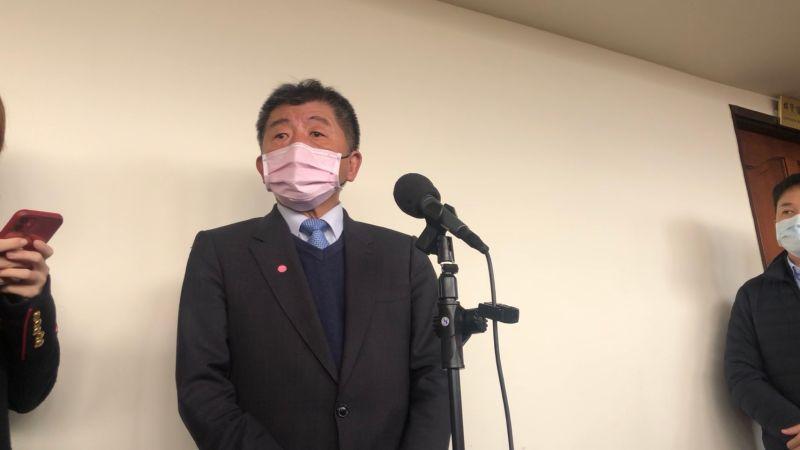 ▲衛福部長陳時中,今天赴立法院備詢時,會前針對萊豬、疫情等議題受訪。(圖/記者劉雅文拍攝)