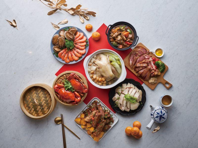 ▲吃到飽餐推出中西混搭開運極上饗宴澎湃年菜組合。(圖/業者提供)