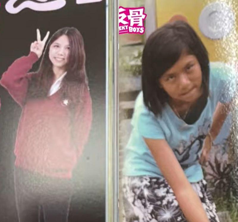 ▲蕾菈高中(左)、國小(右)時的模樣。(圖/反骨男孩Youtube)