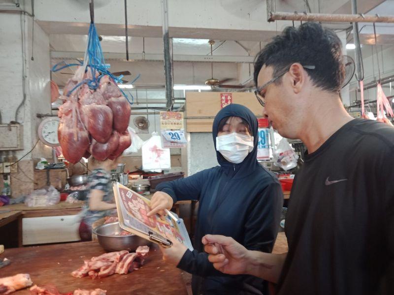 ▲衛生局表示,凡散裝、包裝食品製造販售業及餐飲業者使用豬肉及其可食部位製造食品者,均要明確標示豬肉原料原產地(國)。(圖/澎湖縣政府提供)